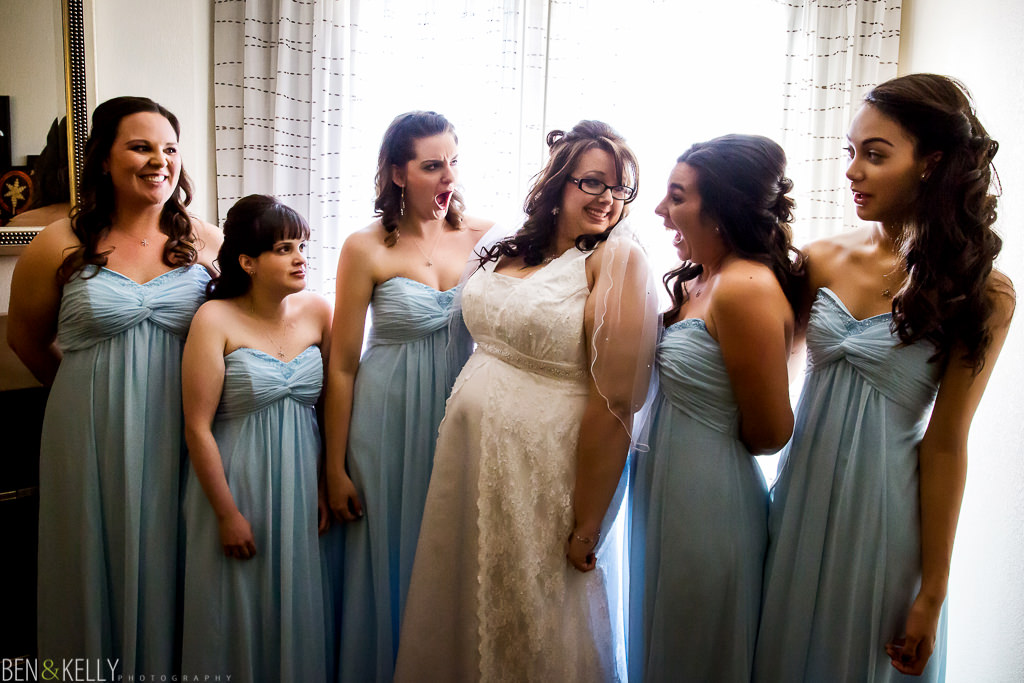 getting ready - bridal party - bride - maid of honor - benandkellyphotography