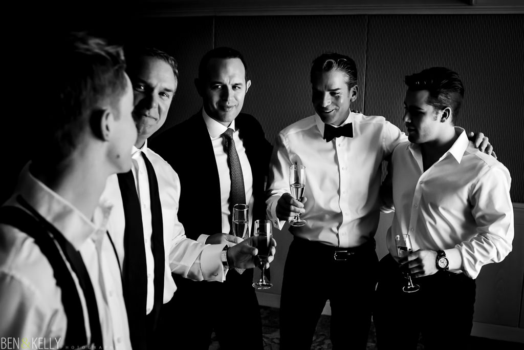 groomsmen at the phoenician - benandkellyphotography