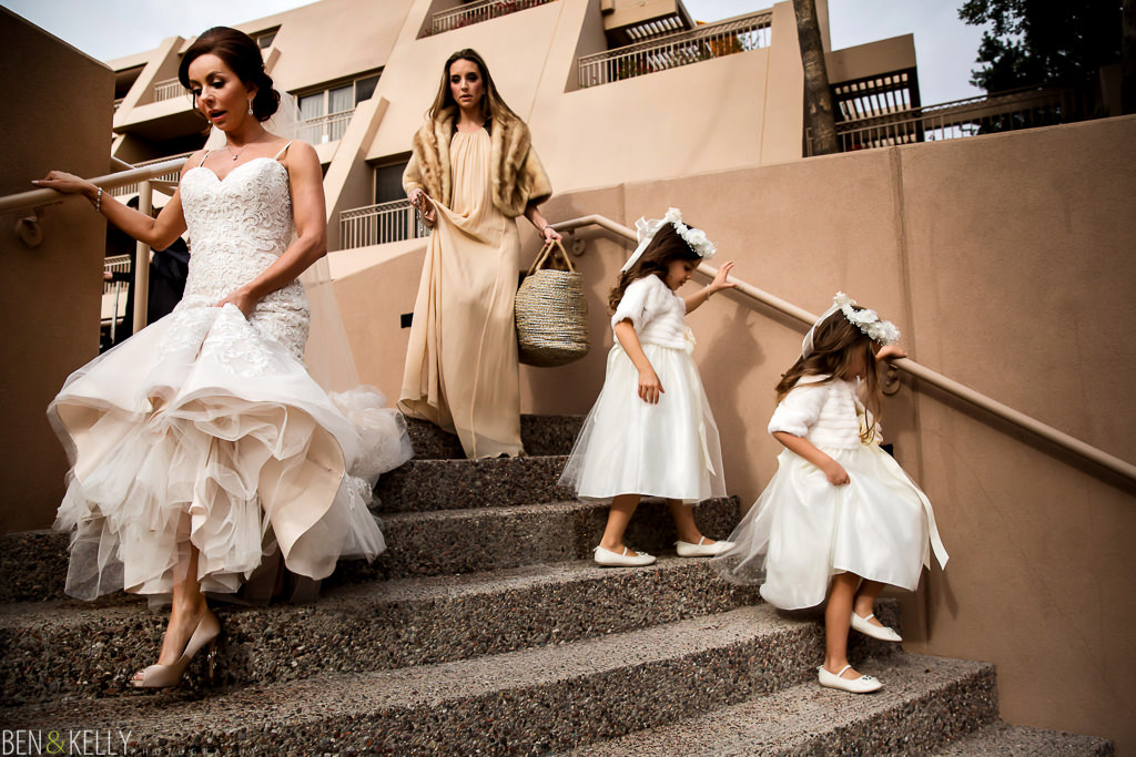 bridal party at the phoenician - benandkellyphotography
