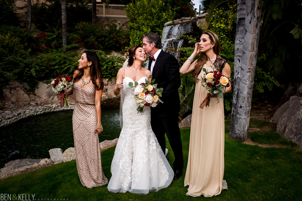 bridal party portrait at the phoenician - orchid falls - benandkellyphotography