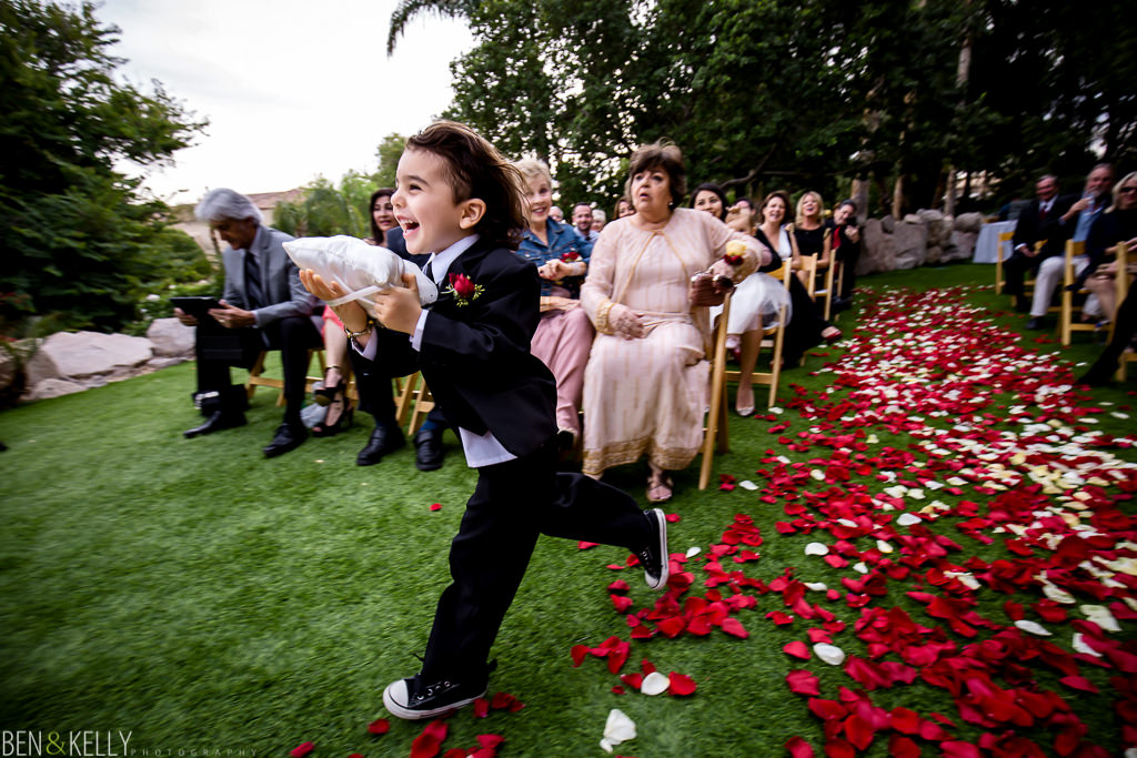 running ring bearer at the phoenician - wedding at the phoenician - benandkellyphotography