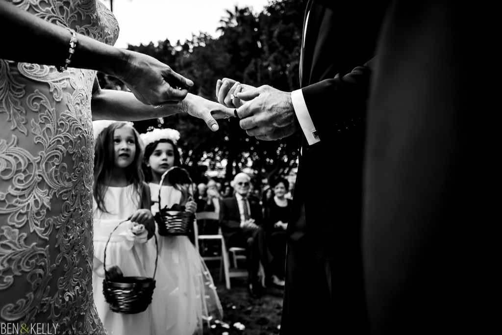 ring exchange at the phoenician - wedding at the phoenician - benandkellyphotography