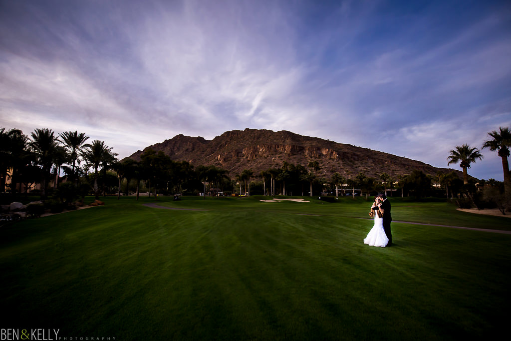 camelback mountain wedding portrait at the phoenician - wedding at the phoenician - benandkellyphotography