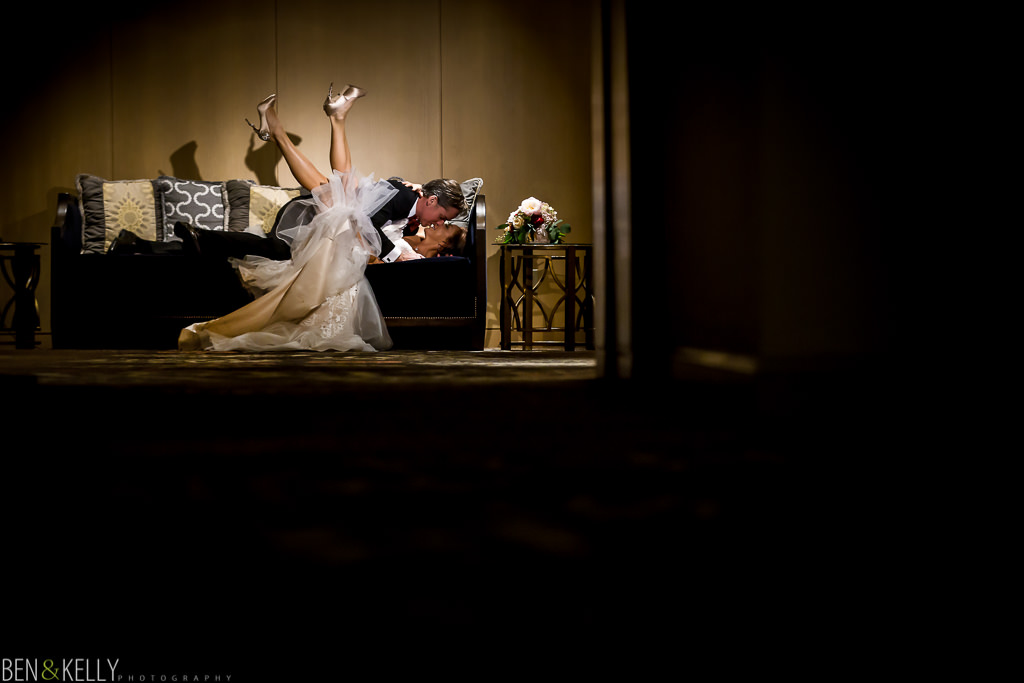 funny couch wedding portrait at the phoenician - wedding at the phoenician - benandkellyphotography