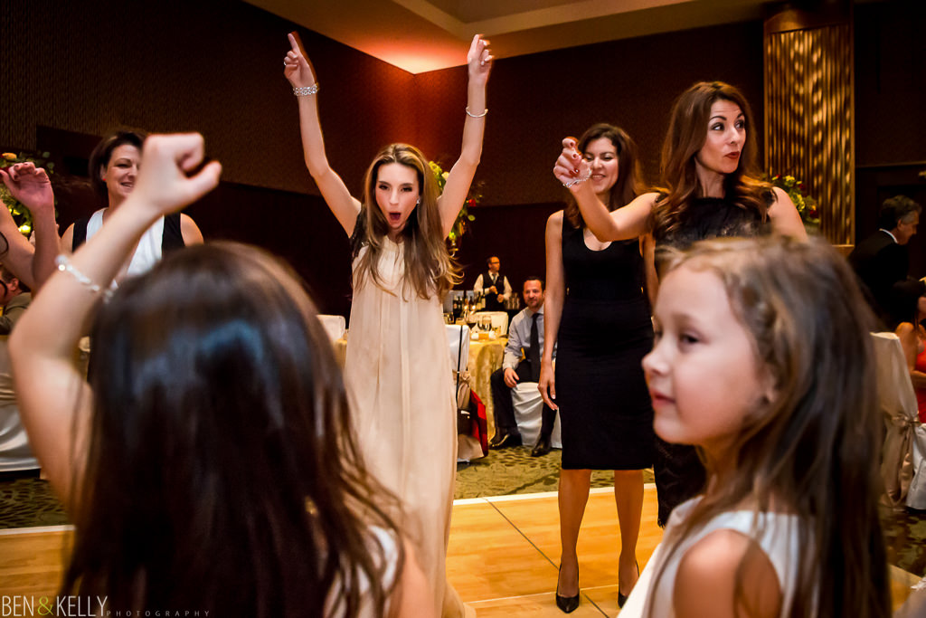 dancing bridesmaid at the phoenician - wedding reception at the phoenician - benandkellyphotography