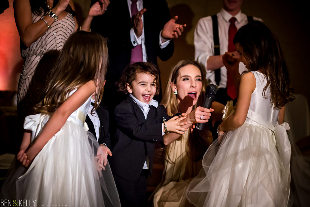 kids toast at the phoenician - wedding reception at the phoenician - benandkellyphotography