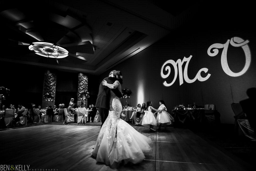 first dance at the phoenician - wedding reception at the phoenician - benandkellyphotography