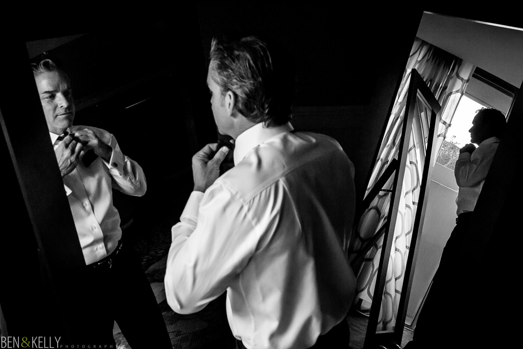 groom getting ready at the phoenician - benandkellyphotography