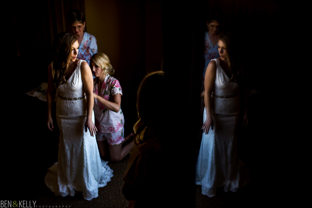 bride at Tempe Mission Palms - Ben and Kelly Photography