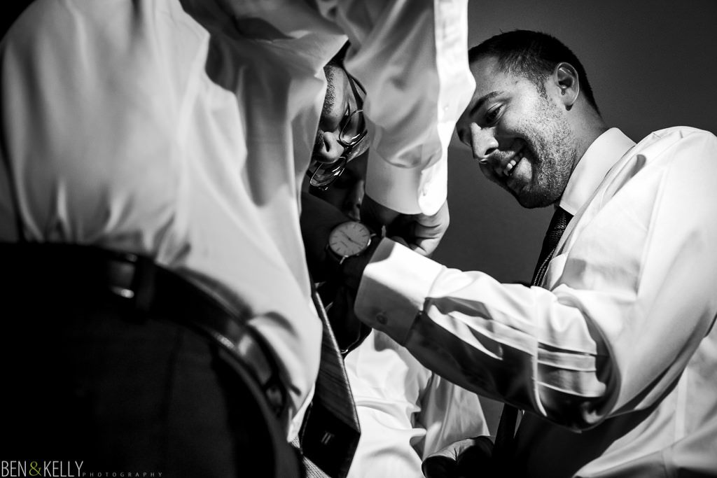 groom getting ready - Tempe Mission Palms - Ben and Kelly Photography