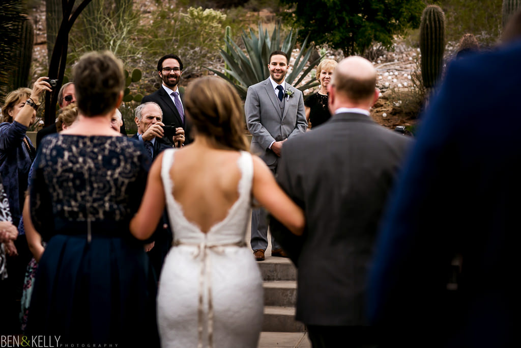 at the alter - desert botanical gardens - Ben and Kelly Photography