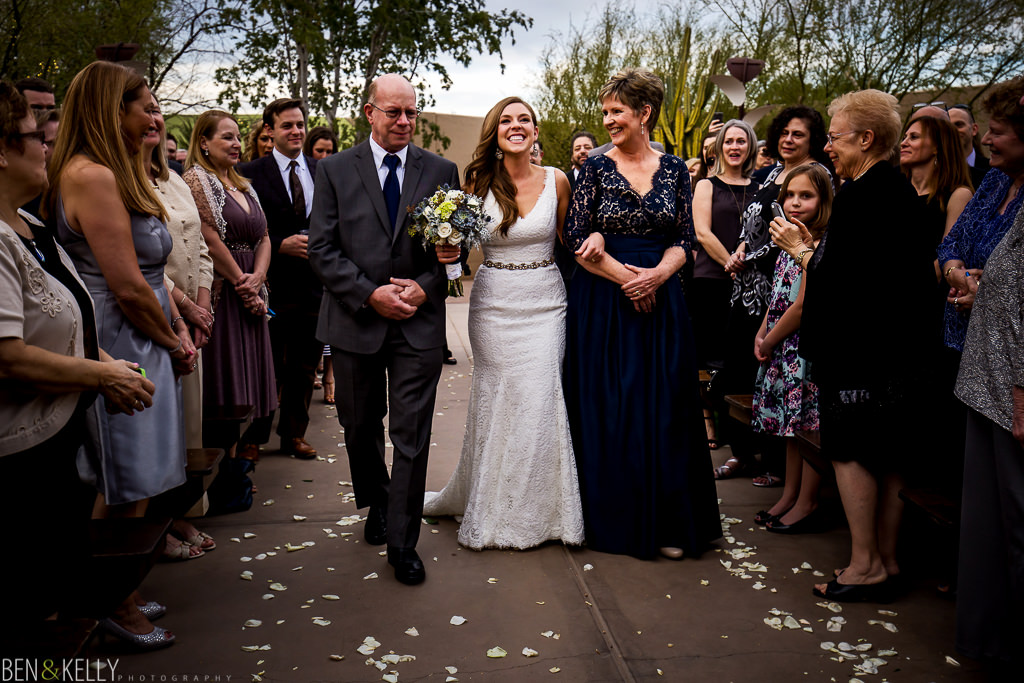 Walking down the aisle - Ben and Kelly Photography