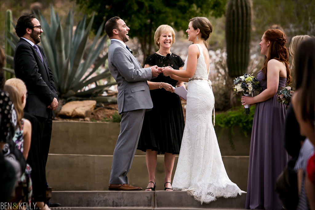 desert botanical gardens - wedding ceremony - Ben and Kelly Photography