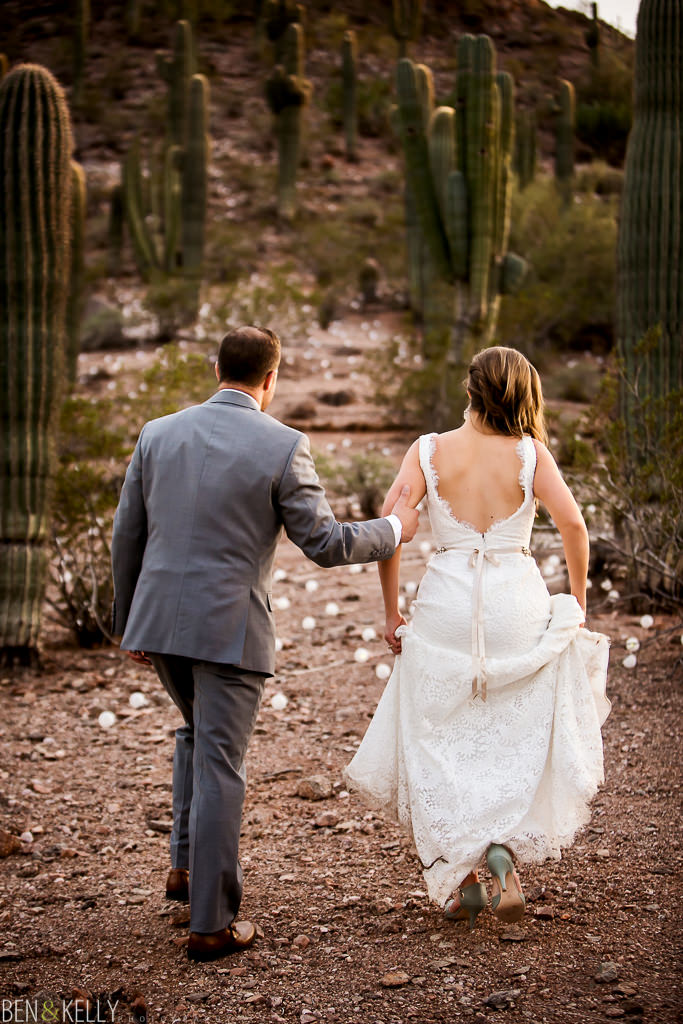 desert wedding - Ben and Kelly Photography