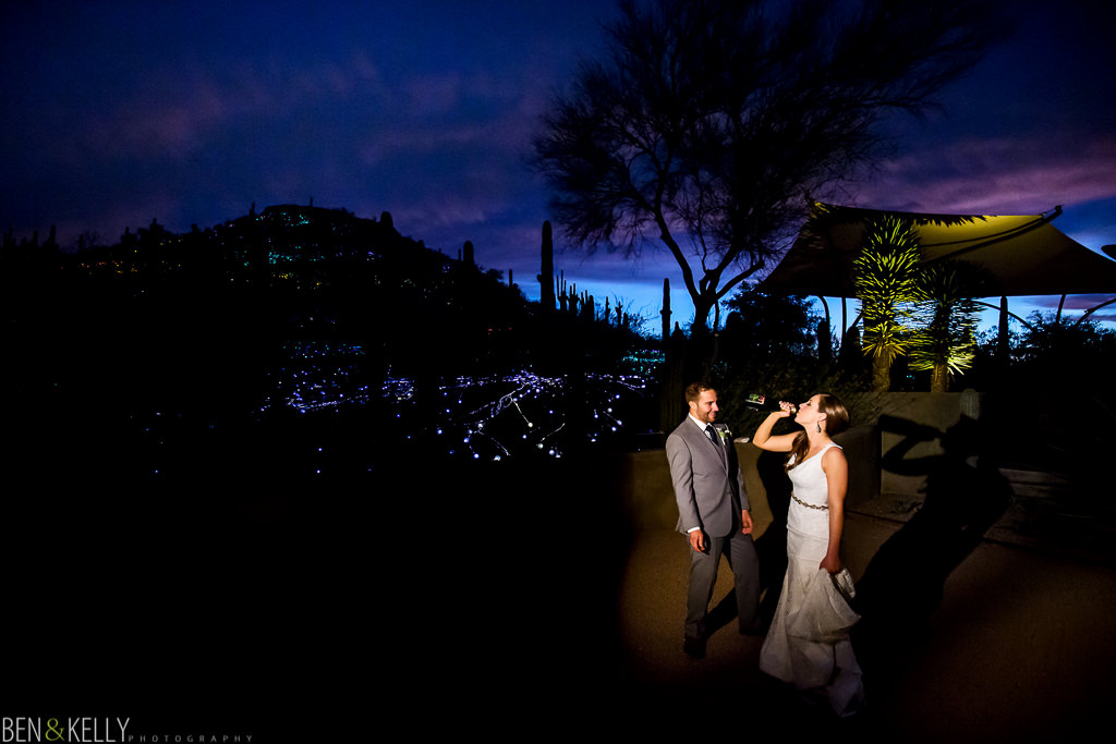 drinking bride - arizona weddings - Ben and Kelly Photography