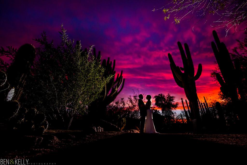 arizona sunset - wedding - Ben and Kelly Photography