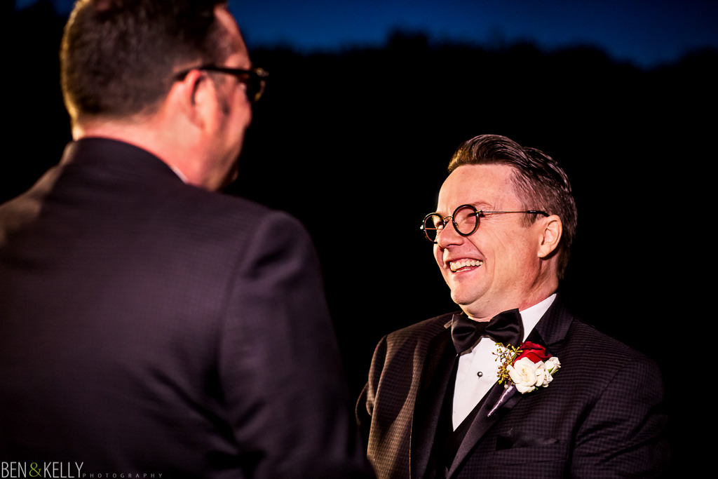 groom laughing - vows - scottsdale - ben and kelly photography