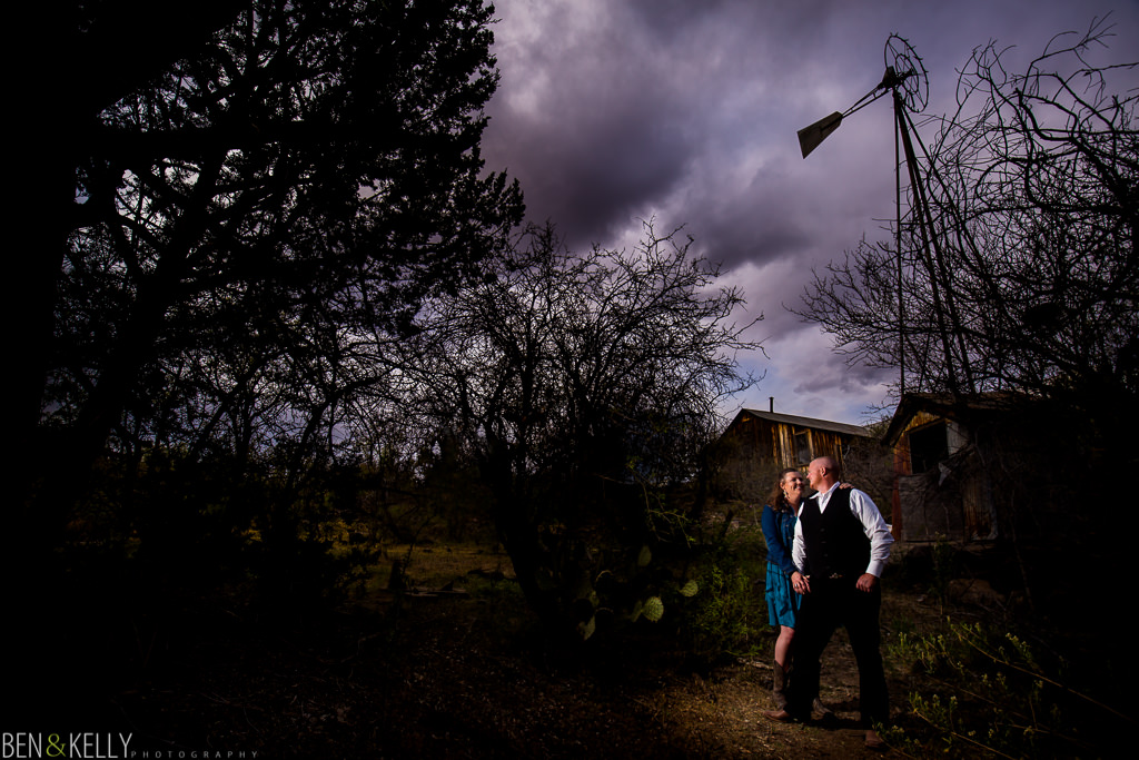 engagement photo at barn - Ben and Kelly Photography