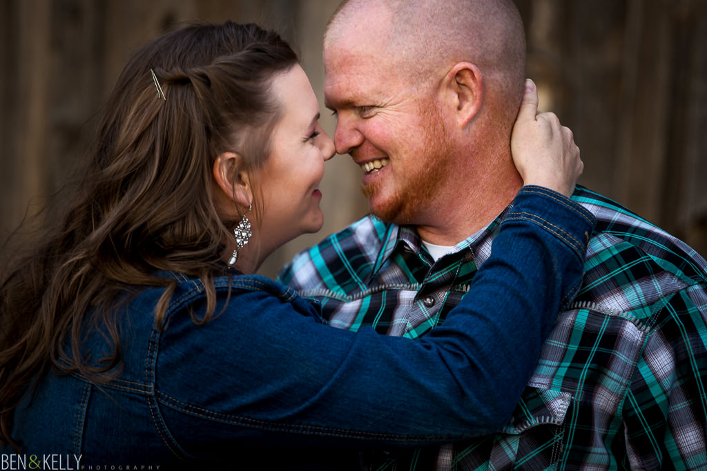 happy engagement photo - Ben and Kelly Photography