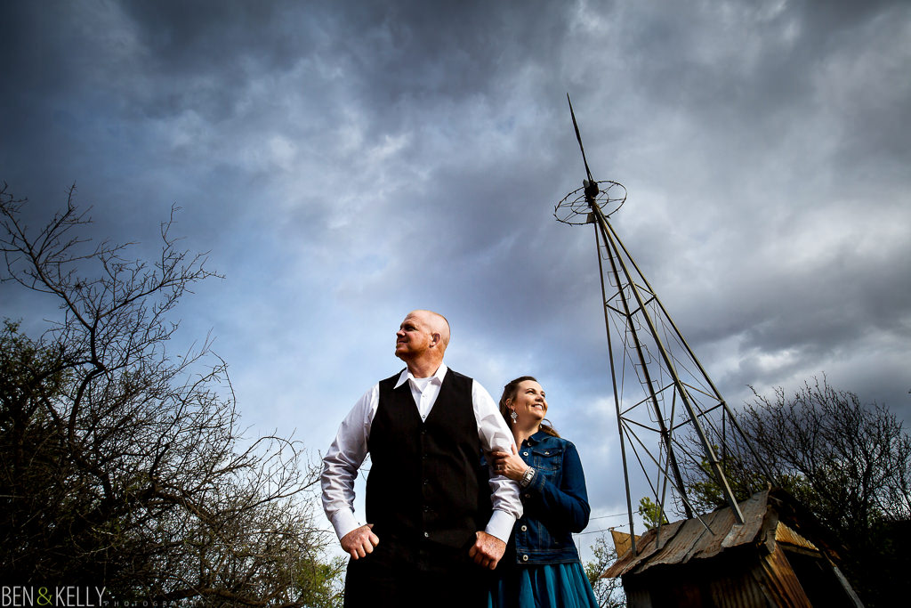 windmill engagement photo - Ben and Kelly Photography