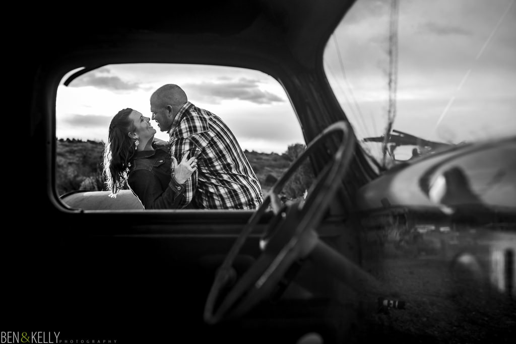 engagement photos that are vintage - Ben and Kelly Photography