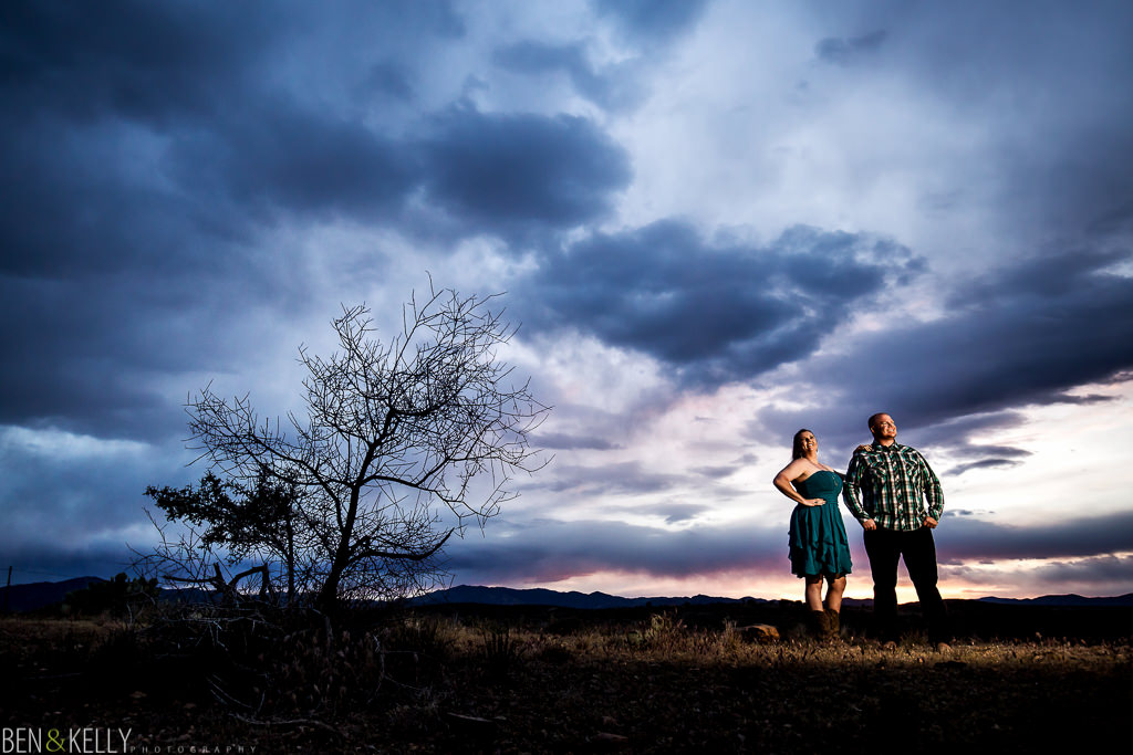 sunset engagement photo - Ben and Kelly Photography