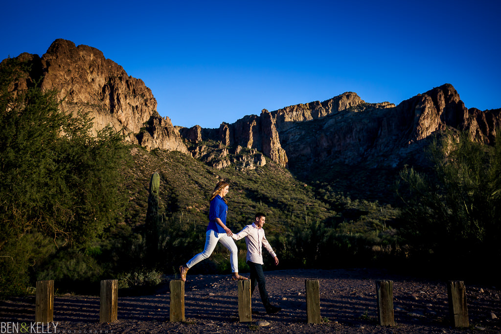 Engagement photos at the Lower Salt River - Ben and Kelly Photography