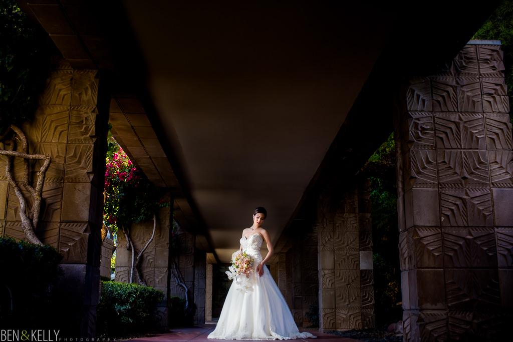 bride at the Arizona Biltmore - Ben and Kelly Photography