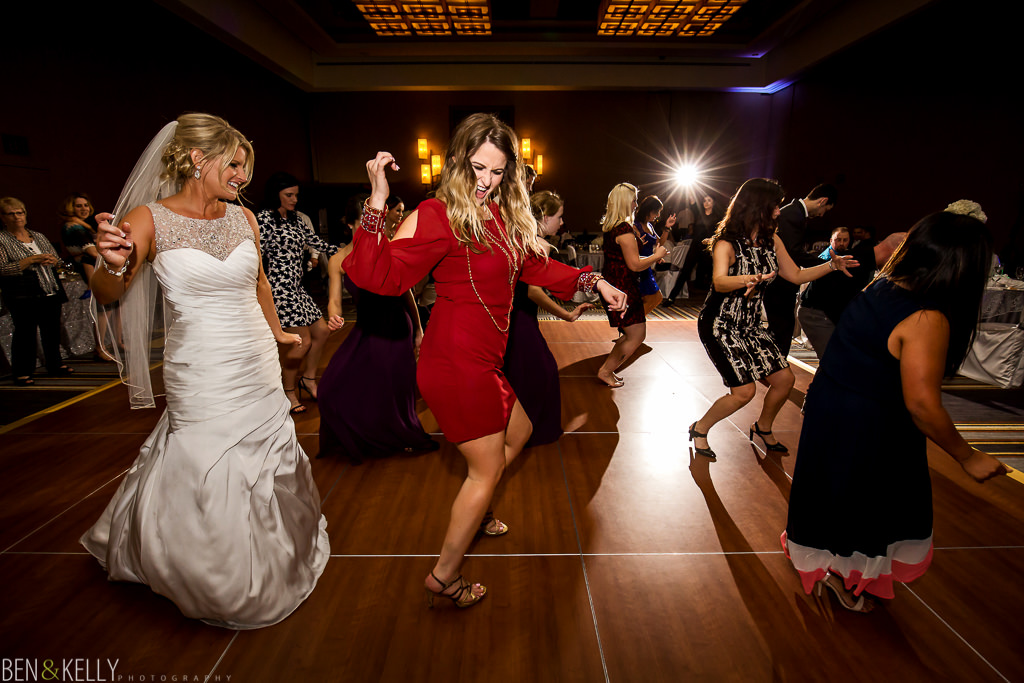 Fun wedding reception - fairmont princess - Ben & Kelly Photography