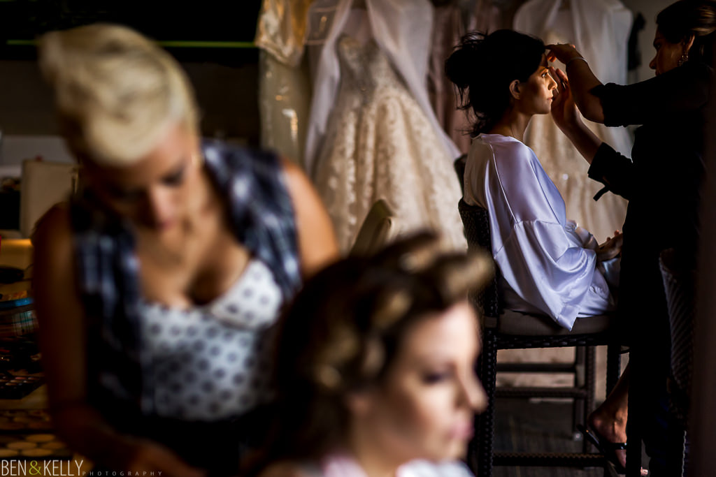 Getting Ready at The Sanctuary - Ben and Kelly Photography