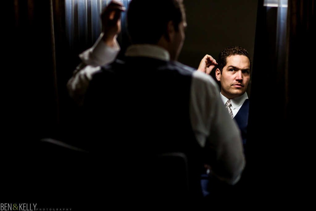 Groom getting ready - Ben and Kelly Photography