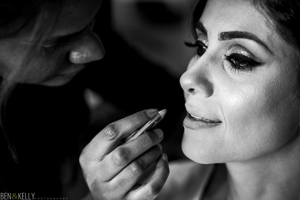 makeup - Sanctuary wedding - Ben and Kelly Photography