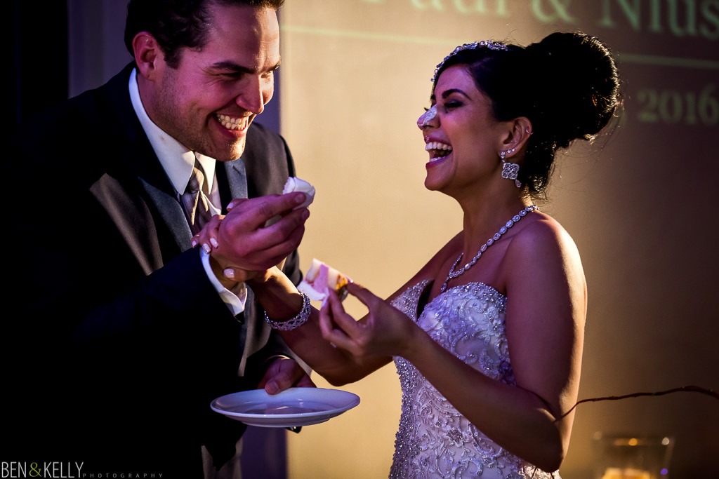 Cake Cutting - Ben and Kelly Photography