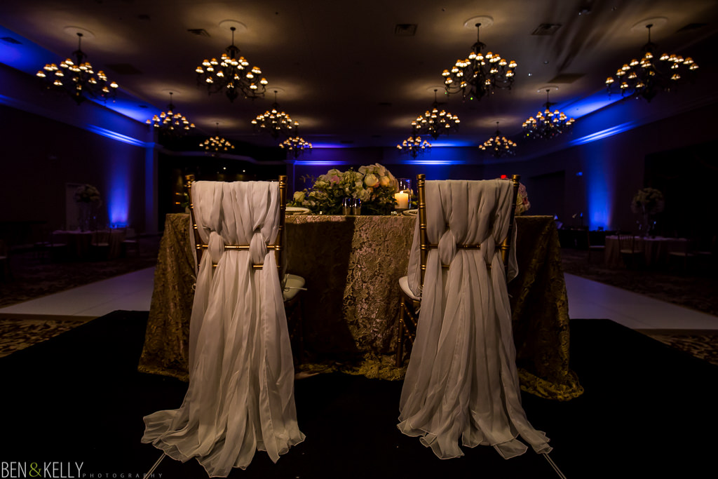 sweetheart table - chateau luxe wedding - Ben and Kelly Photography
