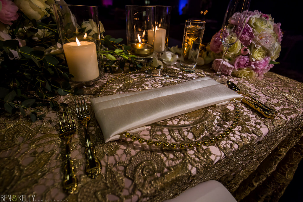 wedding table - Chateau Luxe - Ben and Kelly Photography