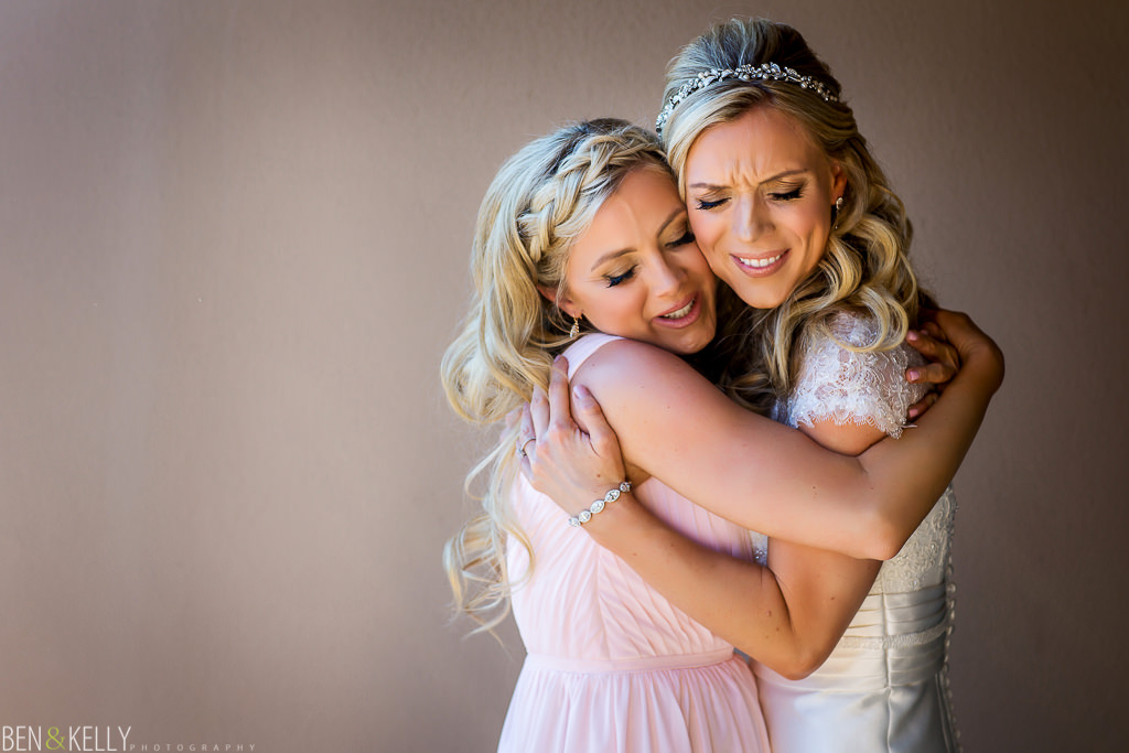 bridesmaid and bride - the Phoenician - Ben and Kelly Photography