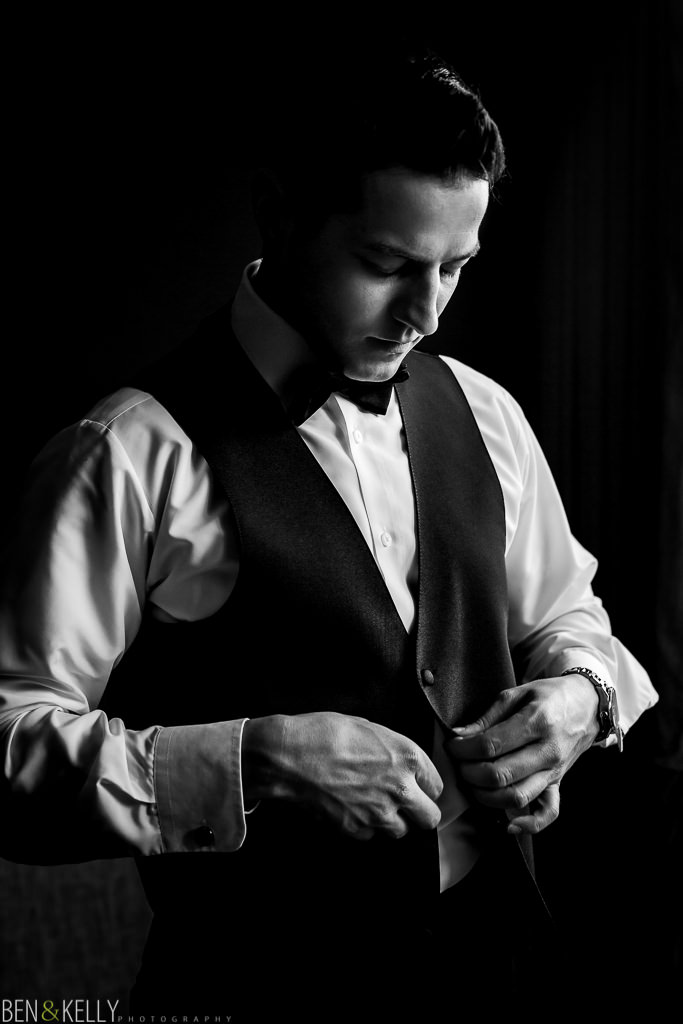 Groom getting ready at The Phoenician - Ben and Kelly Photography