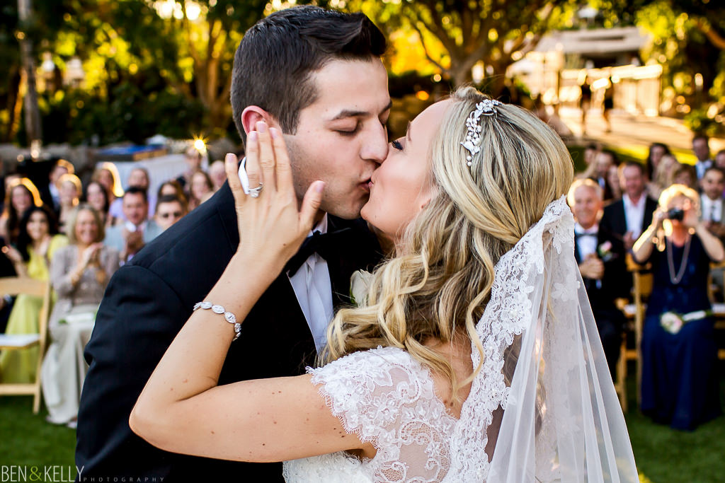 First Kiss - The Phoenician Weddings - Ben and Kelly Photography