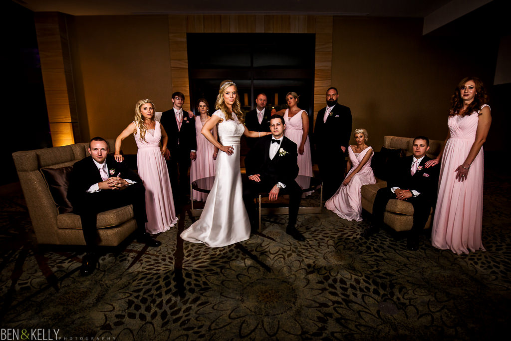 Bridal Party at The Phoenician Wedding - Ben and Kelly Photography