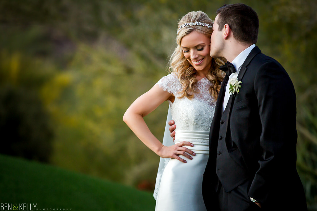 Romantic portraits at The Phoenician - Wedding - Ben and Kelly Photography