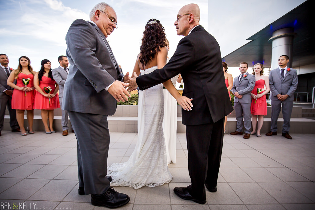 dads - gay wedding ceremony - Phoenix - Ben and Kelly Photography