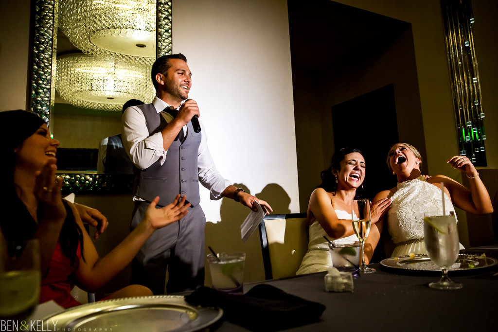 wedding toasts - Hotel Palomar - Ben and Kelly Photography