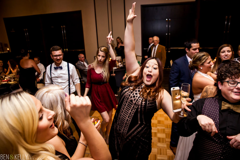 wedding reception at Hotel Palomar - Ben and Kelly Photography