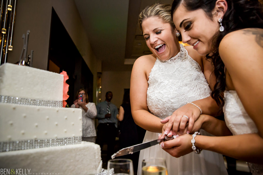 cake cutting - Hotel Palomar - Ben and Kelly Photography