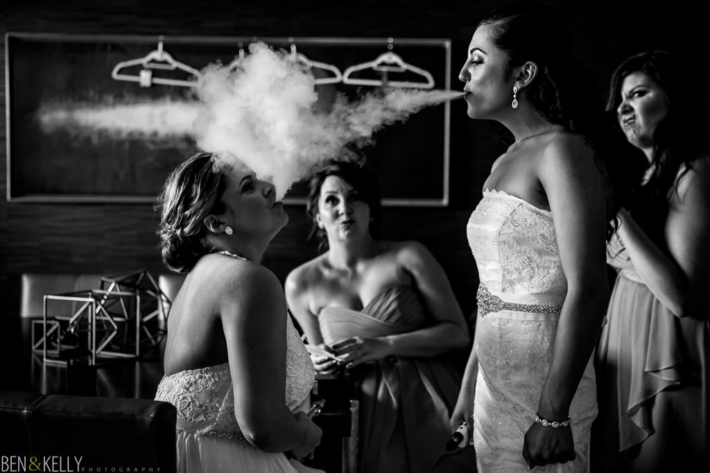 smoking - wedding in Phoenix - Ben and Kelly Photography