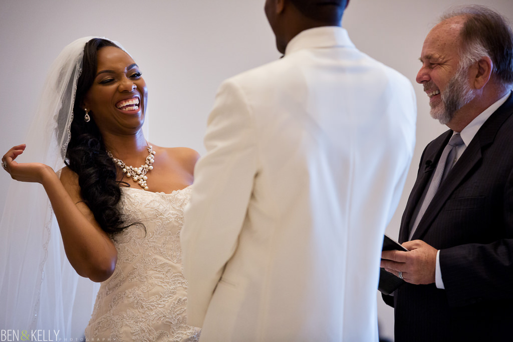 Laughing bride at Chateau Luxe Phoenix - Ben and Kelly Photography