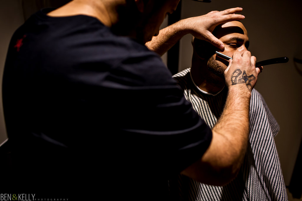Grooms barber - Chateau Luxe - Ben and Kelly Photography