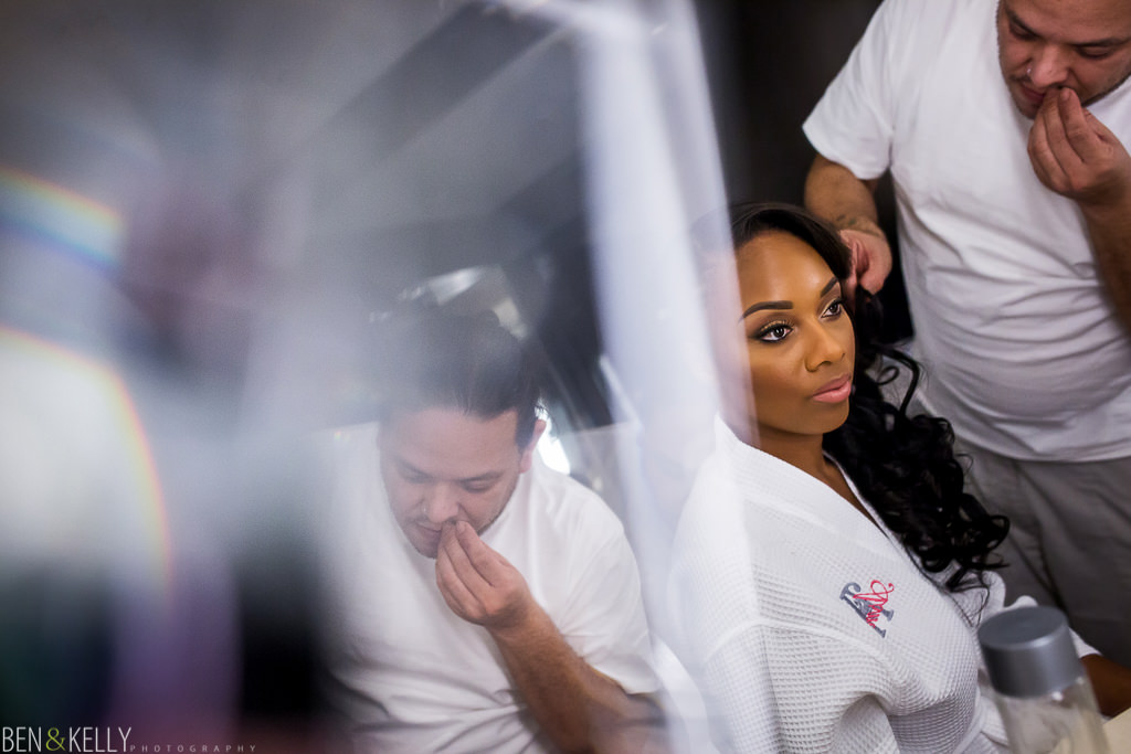 Bride getting ready - Chateau Luxe - Ben and Kelly Photography