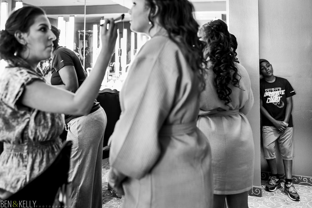 Bridesmaid prep - Chateau Luxe - Ben and Kelly Photography