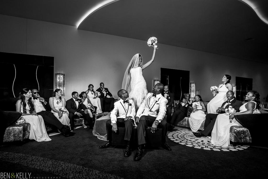 crazy bridal party - phoenix wedding - Ben and Kelly Photography